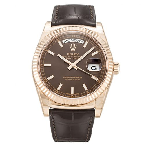 Automatic Rolex Day-Date 118135 Chocolate